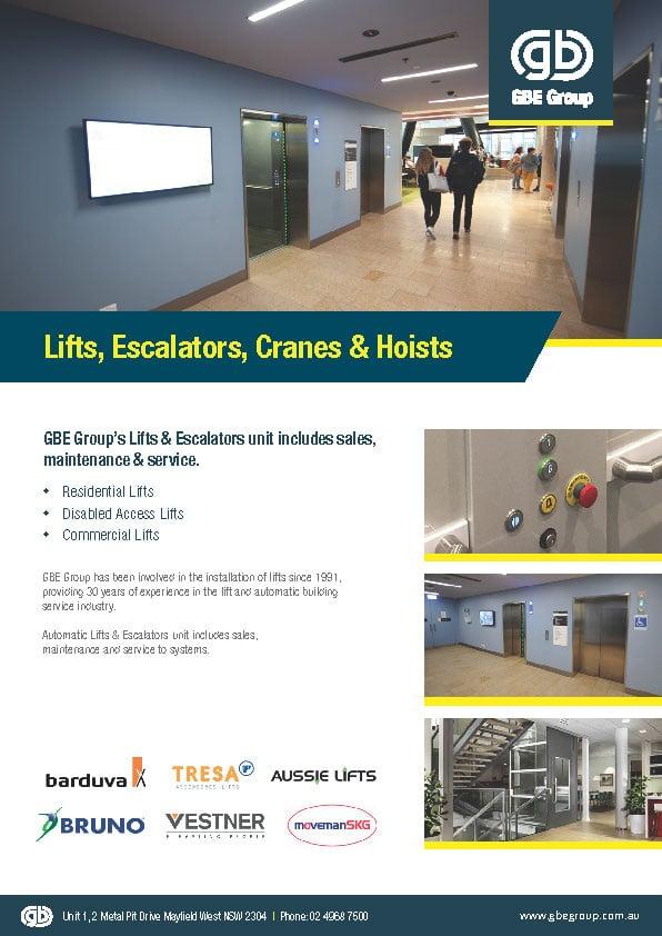 Lifts, Escalators, Cranes & Hoists